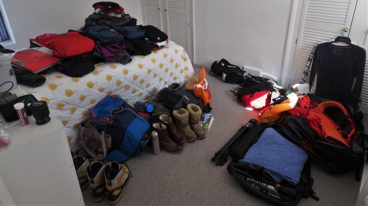 Piles of kit for our Iceland trip