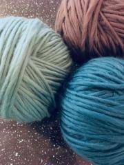 3 balls ready to crochet